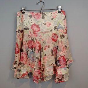 Ralph Lauren Skirt with Floral Ruffles